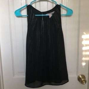 Black and gold shimmer tank